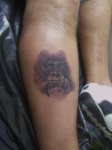 Tattoos wallpaper titled Gorilla portrait