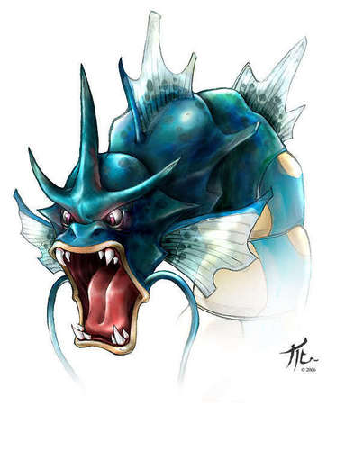Gyarados - pokemon Fan Art