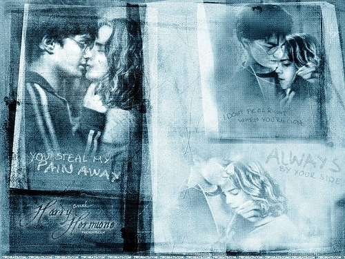Harry and Hermione wallpaper possibly with a newspaper titled Hermione and Harry