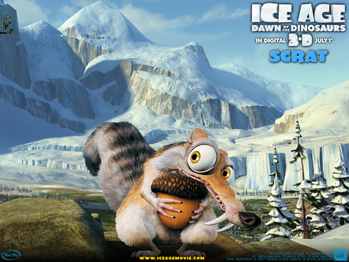 Ice Age wallpaper probably with a ski resort and an alpinist entitled Ice Age 3:The dawn of the dinosaurs
