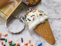 Ice Cream Cone Keychain - keychains photo