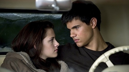 Jake and Bella, New Moon movie scene.