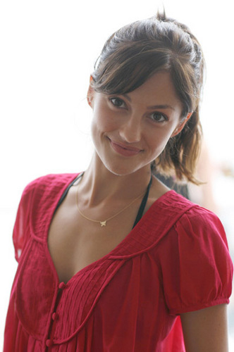 Minka Kelly achtergrond possibly containing a blouse, a chemise, and a nightwear called July 4,2007 - French Connection strand House