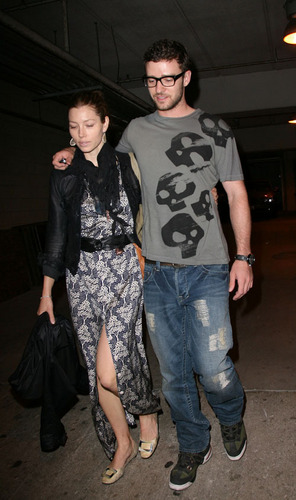 Justin Timberlake and Jessica Biel at the Hollywood Bowl
