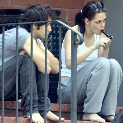 Kristen smoking Marijuana