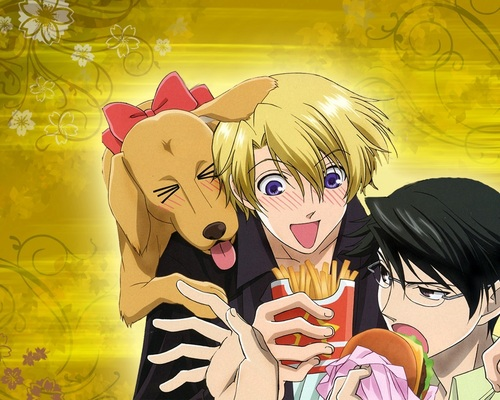 ouran high school host club wallpaper containing anime titled Kyoya and Tamaki