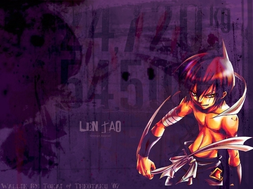 Shaman King wallpaper possibly with a sign and animê entitled Len Tao