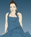Lily Allen Blue Vector