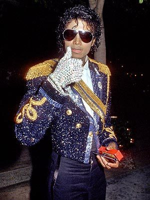 MJ 1984 white sparkly glove, glovu
