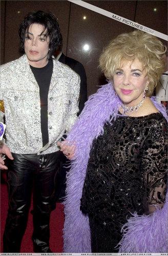 Michael with Elizabeth ( red carpet )