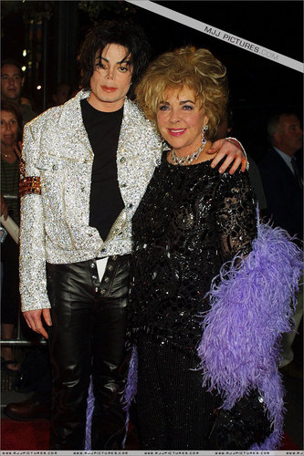 Michael with Elizabeth ( red carpet )