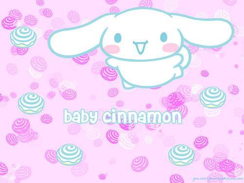 गुलाबी Cinnamoroll वॉलपेपर