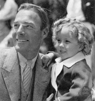 Randolph Scott and Shirley Temple
