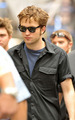 Rob on Remember Me set * - twilight-series photo