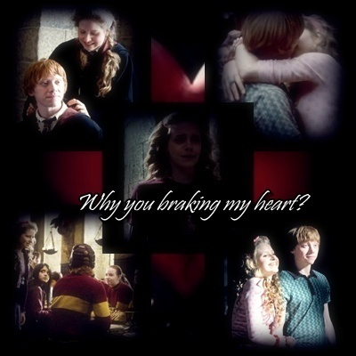 Ron/Lavender/Hermione - Why you braking my heart?