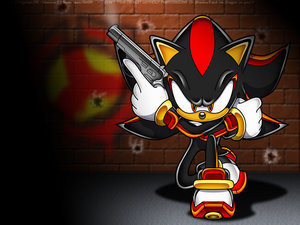 Shadow The Hedgehog kertas dinding titled Shadow