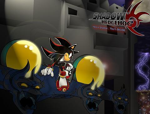 Shadow The Hedgehog kertas dinding probably containing a sign and Anime called Shadow the Hedgehog***