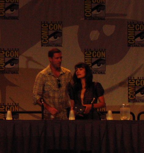 Shannyn Sossamon + Ed Burns at Comic Con
