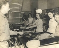 Shirley Temple Serving Food at Military Hospital, 1945