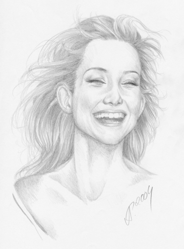 Sketch of a Toothy Kate Hudson