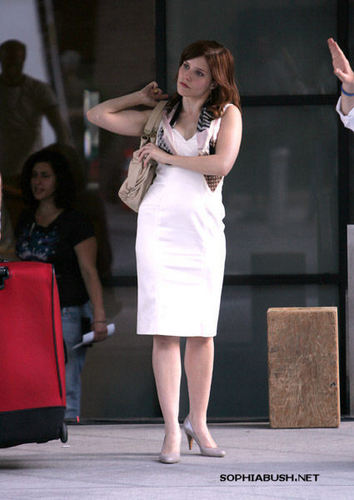 Sophia on the set of 'The Narrows' <33