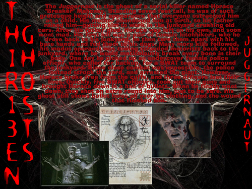 filmes de terror wallpaper possibly with a sign and animê entitled Thir13en Ghosts