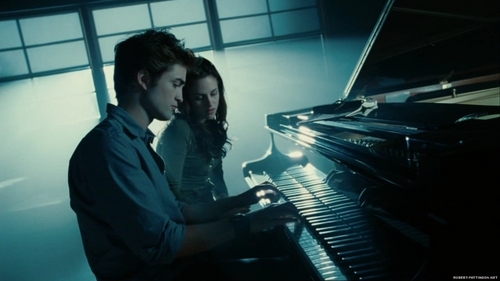 Edward and Bella wallpaper possibly with a pianist and a grand piano titled Twilight- edward + bella