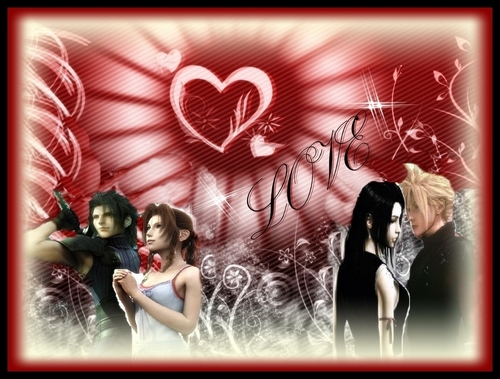 ZACK AND AERITH TIFA AND wolke