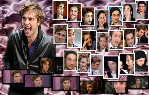 funny faces Robert Pattinson =)