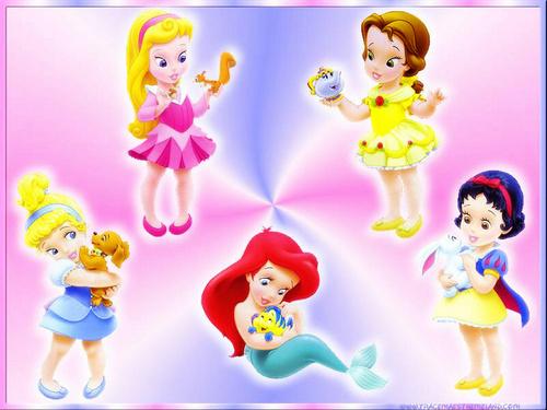 little disney princesses پیپر وال entitled little princesses