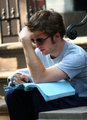 rob studying =) - twilight-series photo