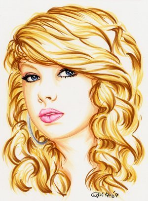 Taylor Swift wallpaper probably with a portrait titled taylor drawing