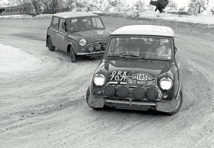 Mini Cooper wallpaper with a hatchback, a sedan, and a hatchback called 1964 Mini Cooper S: Racing