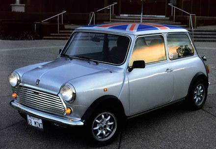 Mini Cooper wallpaper containing a sedan entitled 1968 Mini Cooper S English Flag