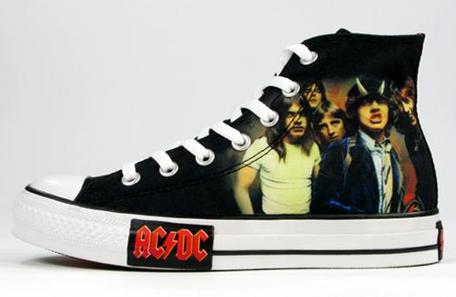 AC/DC converse shoes
