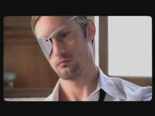 Alexander Skarsgård 壁纸 possibly containing a 电视 receiver and a portrait called Alex from Lady GaGa's 'Paparazzi' video