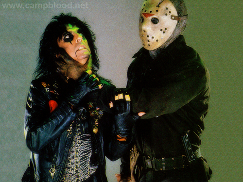 Alice Cooper and Jason Voorhees!