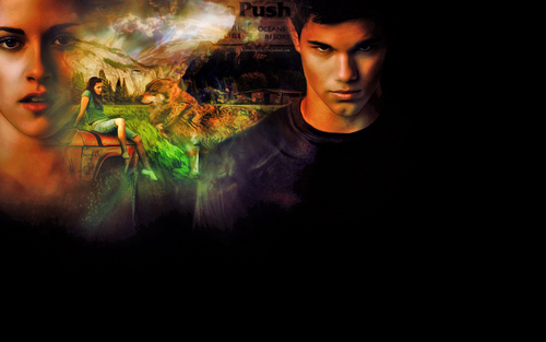 Twilight Series wallpaper probably with a fire titled Bella & Jacob Wallpaper