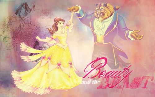 Die Schöne und das Biest Hintergrund with Anime titled Belle and the Beast