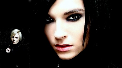 Bill Kaulitz achtergrond with a portrait called Bill/Strify Fanmade achtergrond (by me)