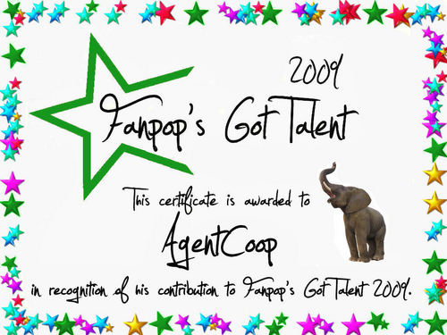 fanpop's got talent wallpaper called AgentCoop Certificate