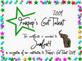 Jamfan4 Certificate - fanpops-got-talent photo