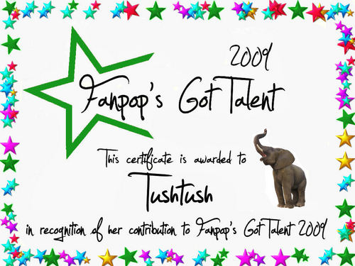 fanpop's got talent wallpaper titled Tushtush Certificate