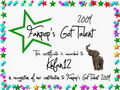 Khfan12 Certificate - fanpops-got-talent photo