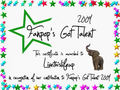 Livethislifeup Certificate - fanpops-got-talent photo