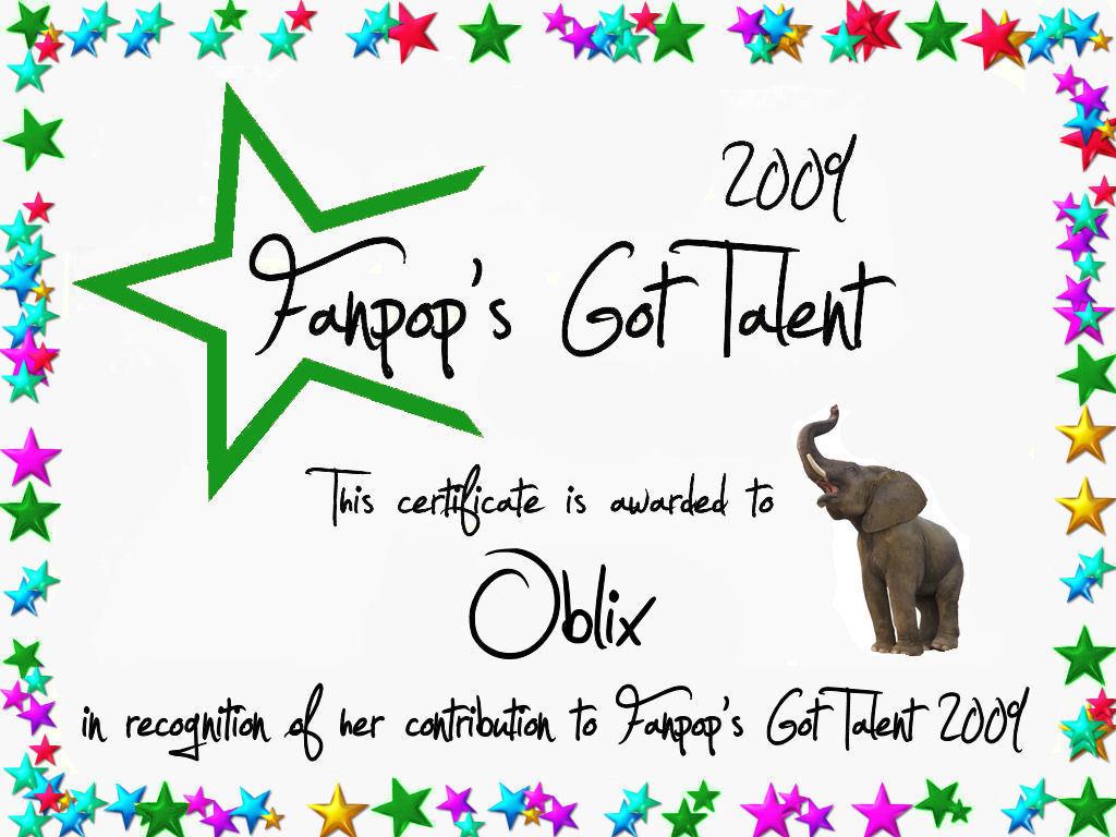 Oblix Certificate