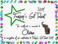 Olivine Certificate