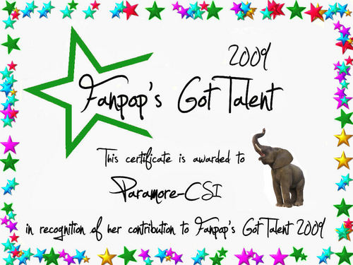fanpop's got talent wallpaper titled Paramore-CSI Certificate