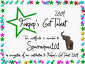 Sparrowpaw101 Certificate - fanpops-got-talent photo