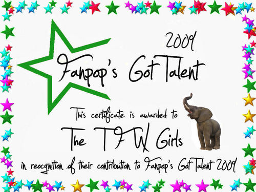 fanpop's got talent wallpaper entitled TFW Certificate
